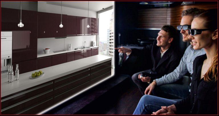 3D-Küchen-Kino